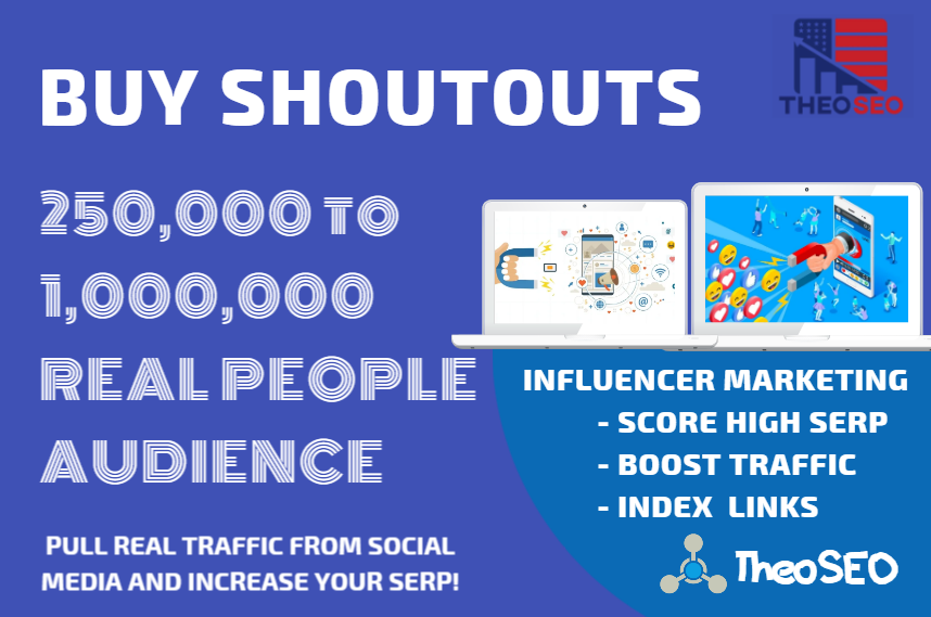 Organic Shoutouts - 100 Shoutouts from Authority Pages - 1,000,000 Audience - INFLUENCER TRAFFIC