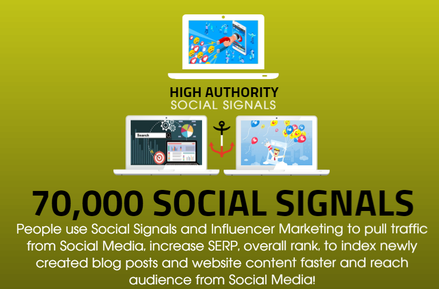 GET 70,000 SOCIAL SIGNALS ON HIGH AUTHORITY PAGES TO BOOST YOUR RANK,  TRAFFIC AND SEO SCORE