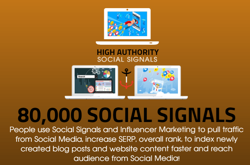 GET 80.000 SOCIAL SIGNALS ON HIGH AUTHORITY PAGES TO BOOST YOUR RANK,  TRAFFIC AND SEO SCORE