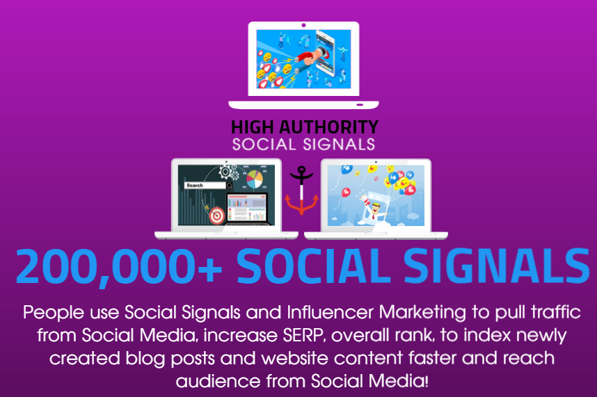 GET 200.000 SOCIAL SIGNALS ON HIGH AUTHORITY PAGES TO BOOST YOUR RANK,  TRAFFIC AND SEO SCORE