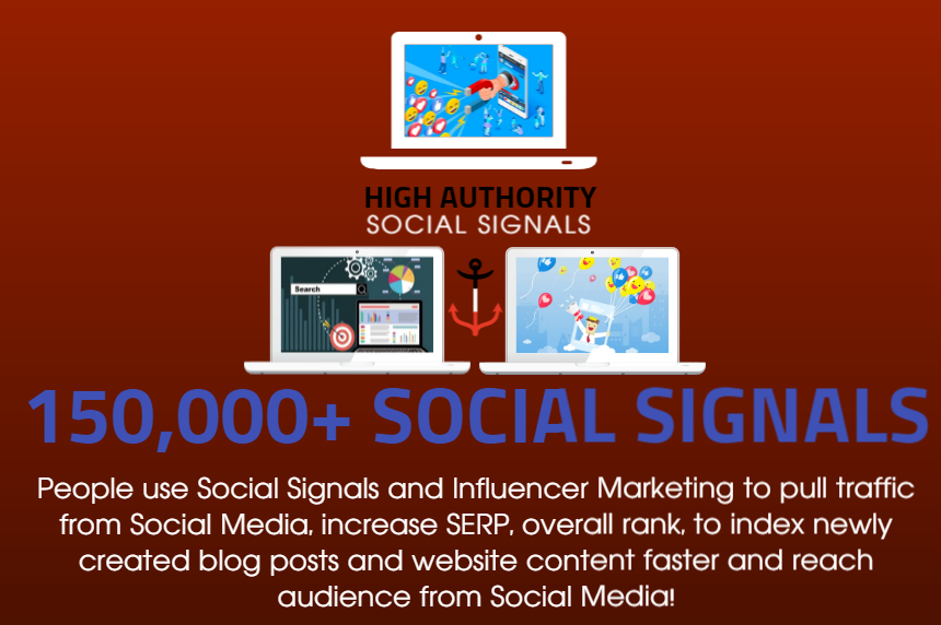 GET 150.000 SOCIAL SIGNALS ON HIGH AUTHORITY PAGES TO BOOST YOUR RANK,  TRAFFIC AND SEO SCORE
