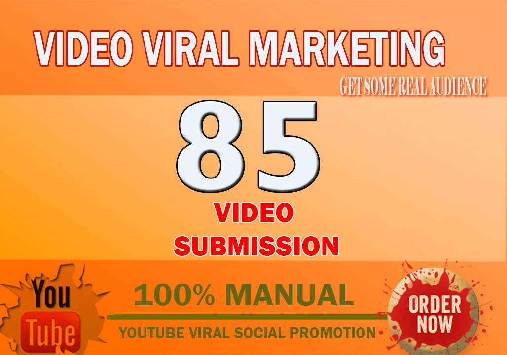 Manual Video submission On 85 Video sharing sites With High DA PA
