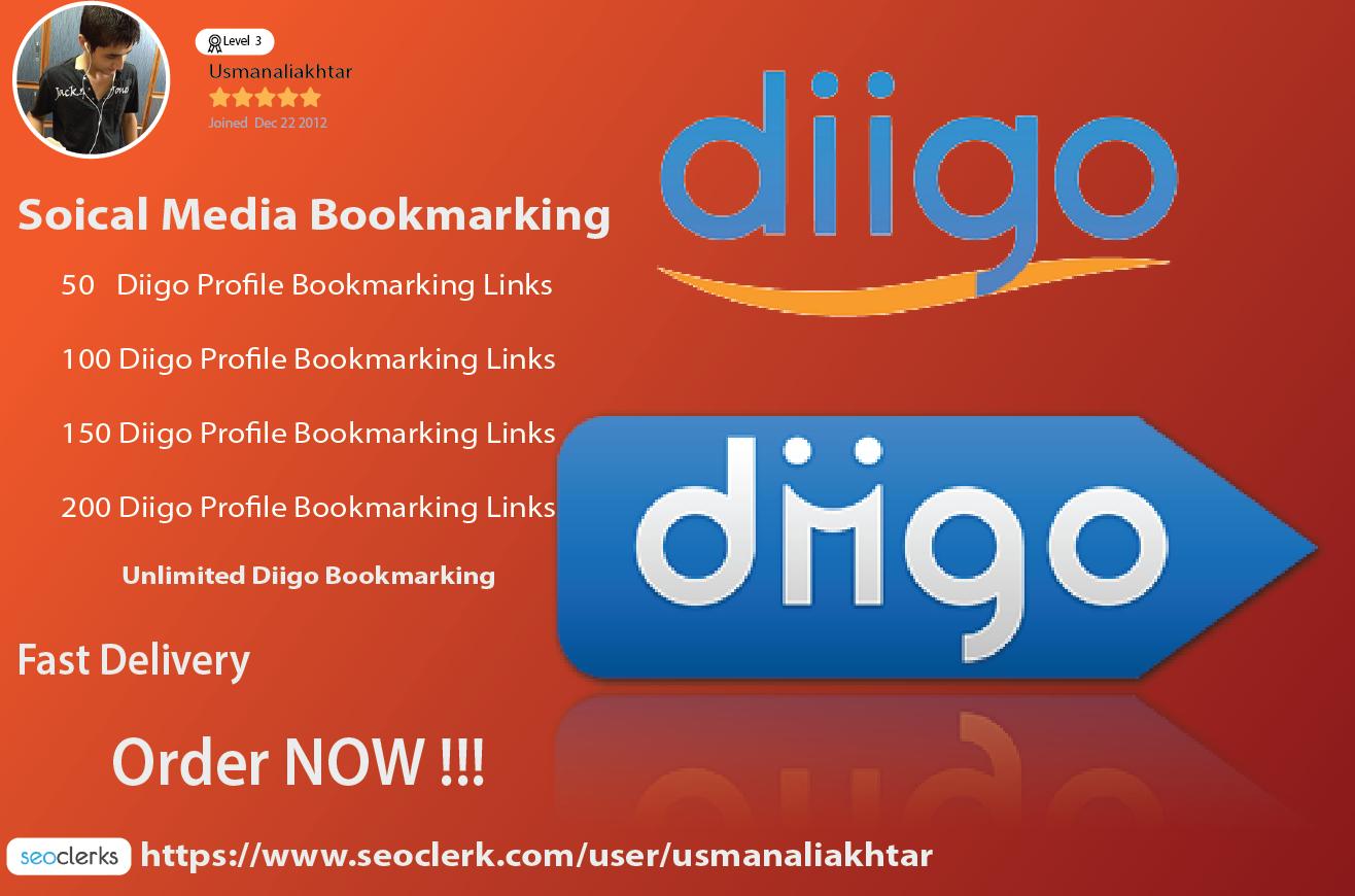 Add your website or URL 100 Diigo Profile share links
