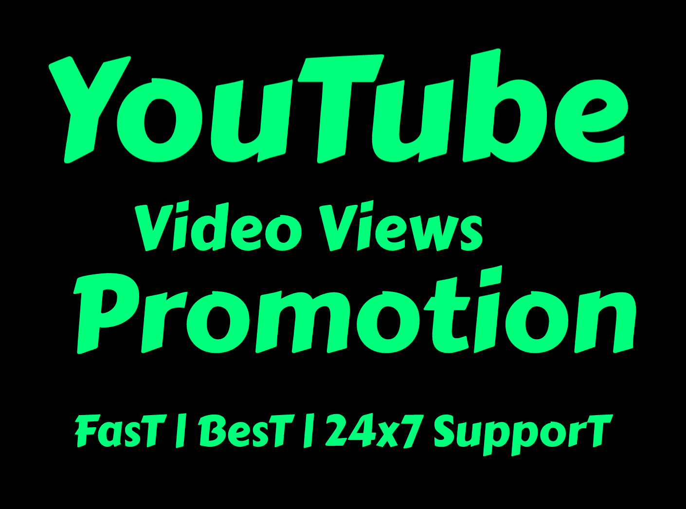 All Natural Youtube Promotion for you