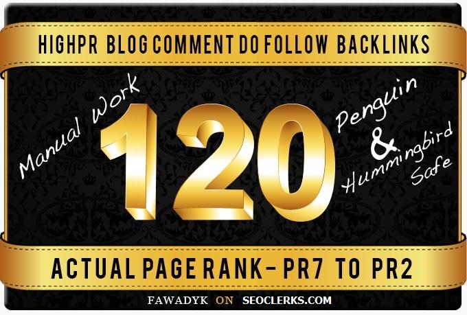 Build 120 Dofollow Blog Comment backlinks On High DA Sites