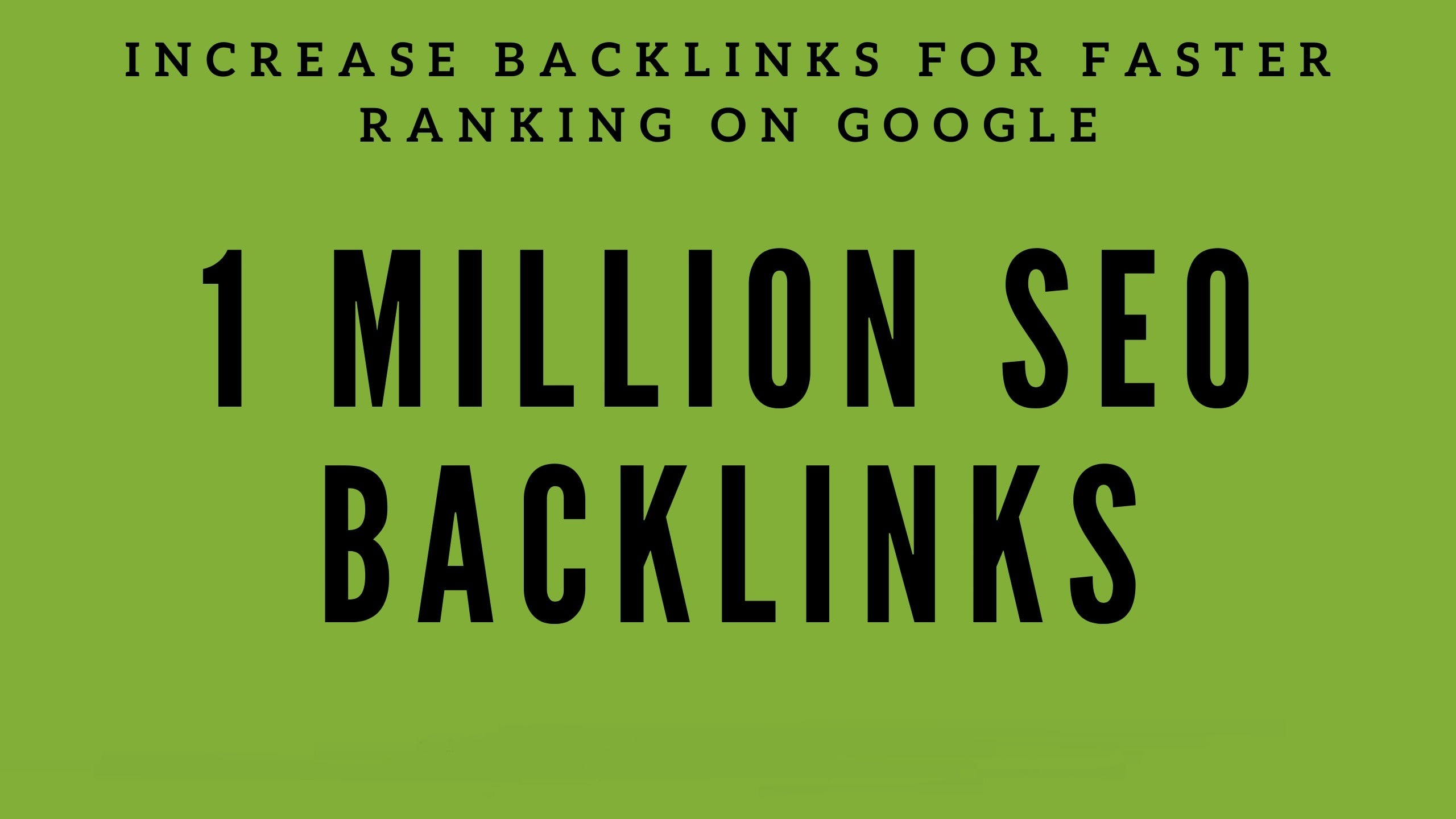 build Up to 1 Million backlinks for your url/s and keyword/s