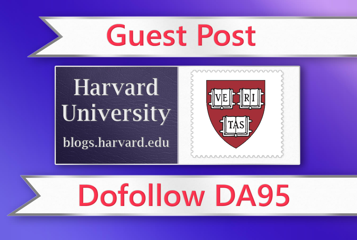 will publish a guest post with backlink in harvard university edu da95