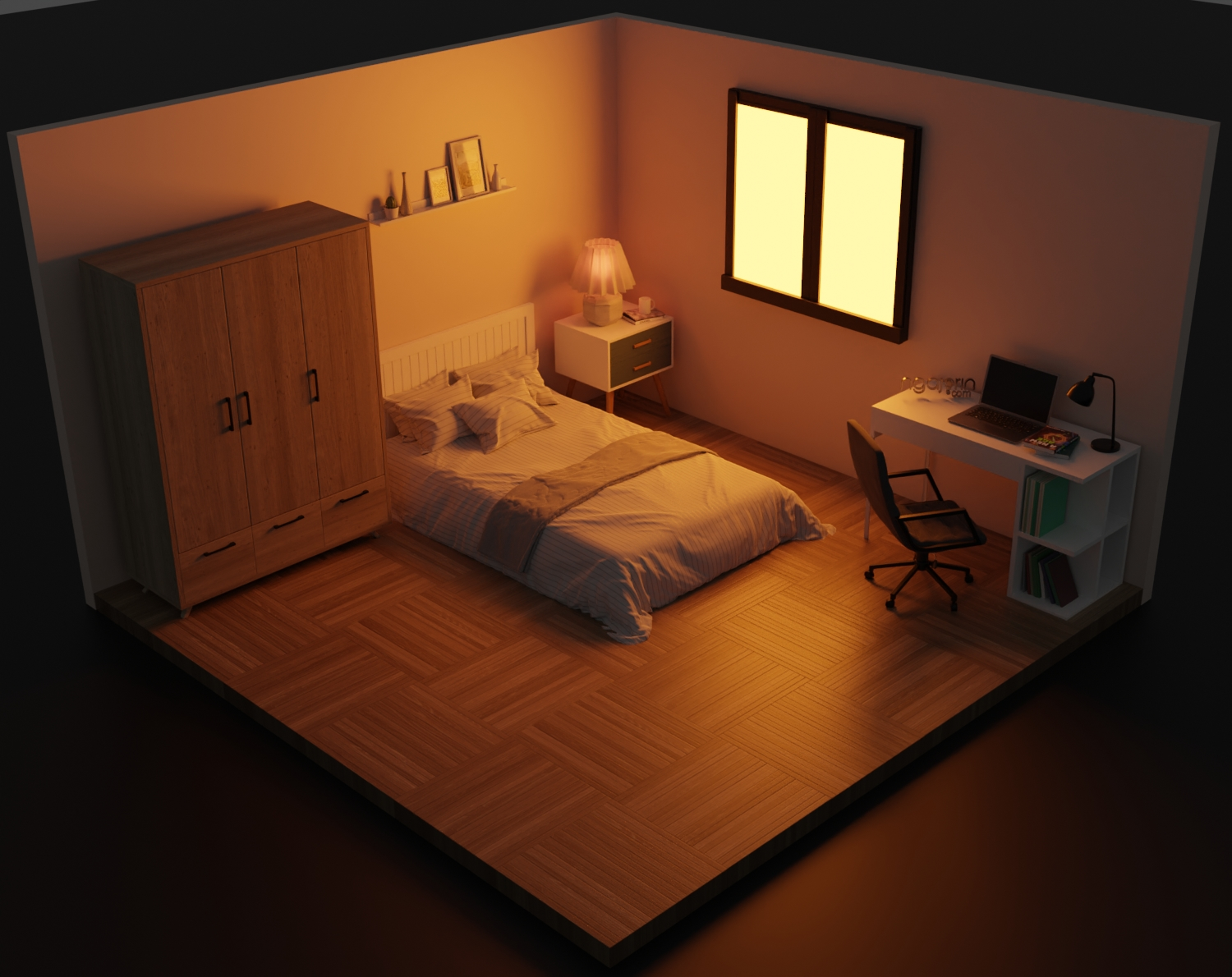 3d design isometric room for you