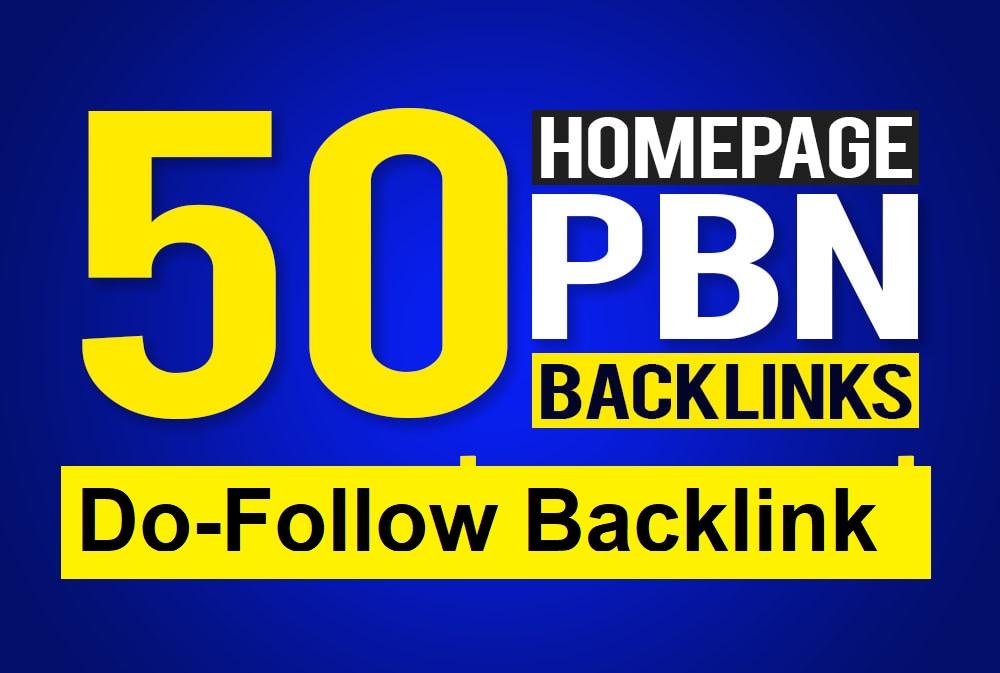 Manually Build 50 UNIQUE HOMEPAGE PBN backIinks DA20+