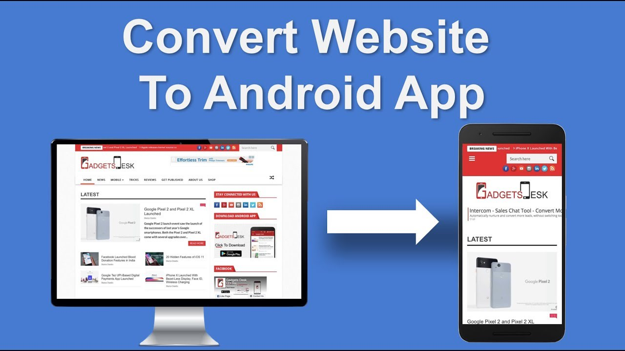 I will convert your website to a cool android app