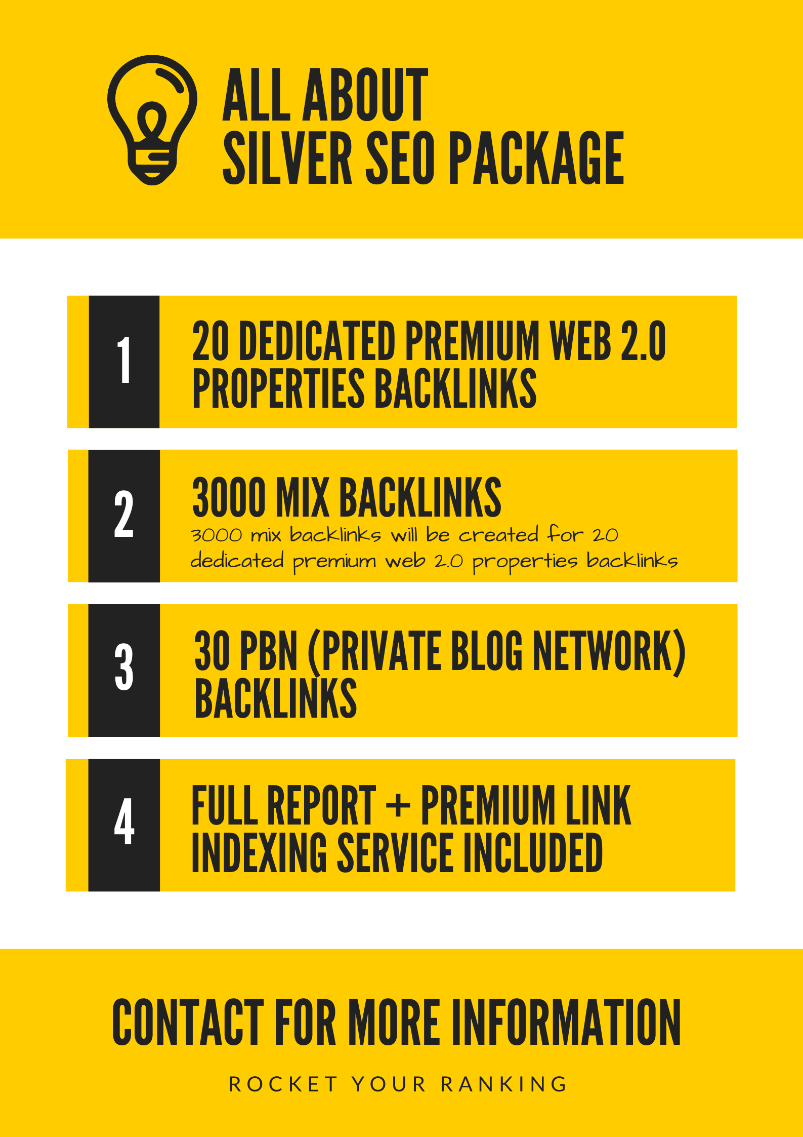 Silver SEO Package - Rank Dominator - Boost Your RANKING