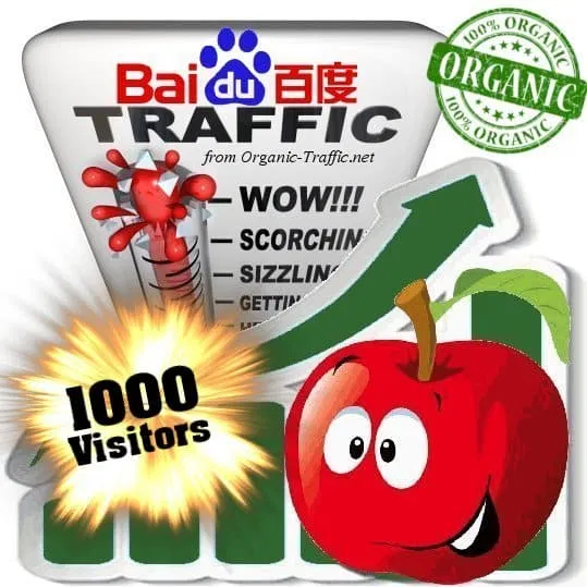 Organic traffic from Baidu with your Keyword