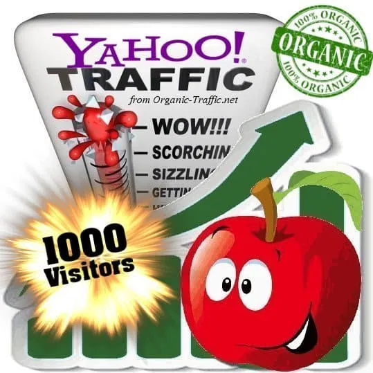 Organic search traffic through Yahoo by Keywords to your Website