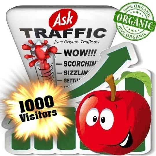 Organic search traffic from Ask. com with your Keyword