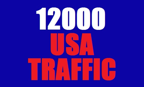 12000 USA Web Traffic for 10 days