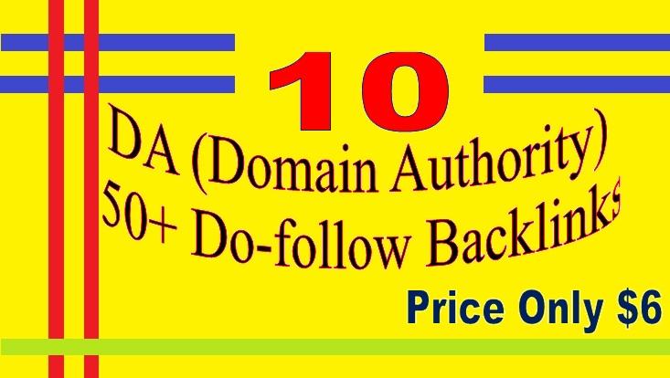 Manage 10 DA (Domain Authority) 50+ Do-follow Backlinks for your Websites
