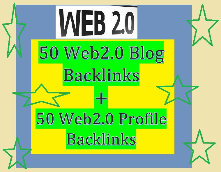 Manage 50+50 Web 2.0 Backlink for Your Website ranking