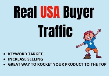 real USA buyer traffic for amazon ebay and etsy