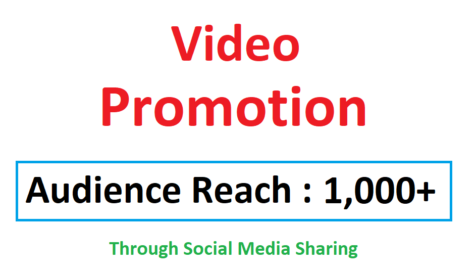 Youtube Video Viral Marketing Promotion 1k+