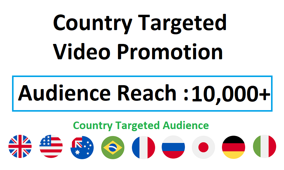 Country Targeted Video Viral Marketing Promotion