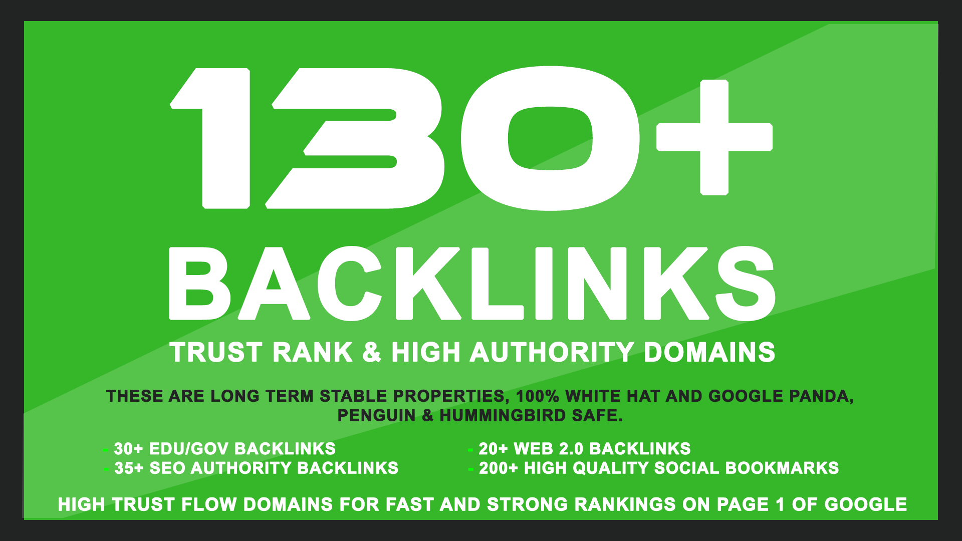 130+ High Pr SEO Authrity Backlinks to skyrocket your Google Rankings