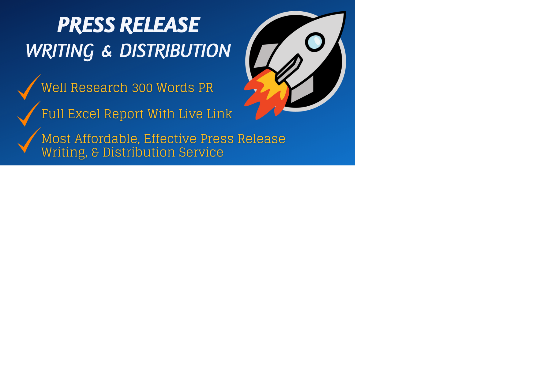 Distribute your press release to top 15 high PR network site