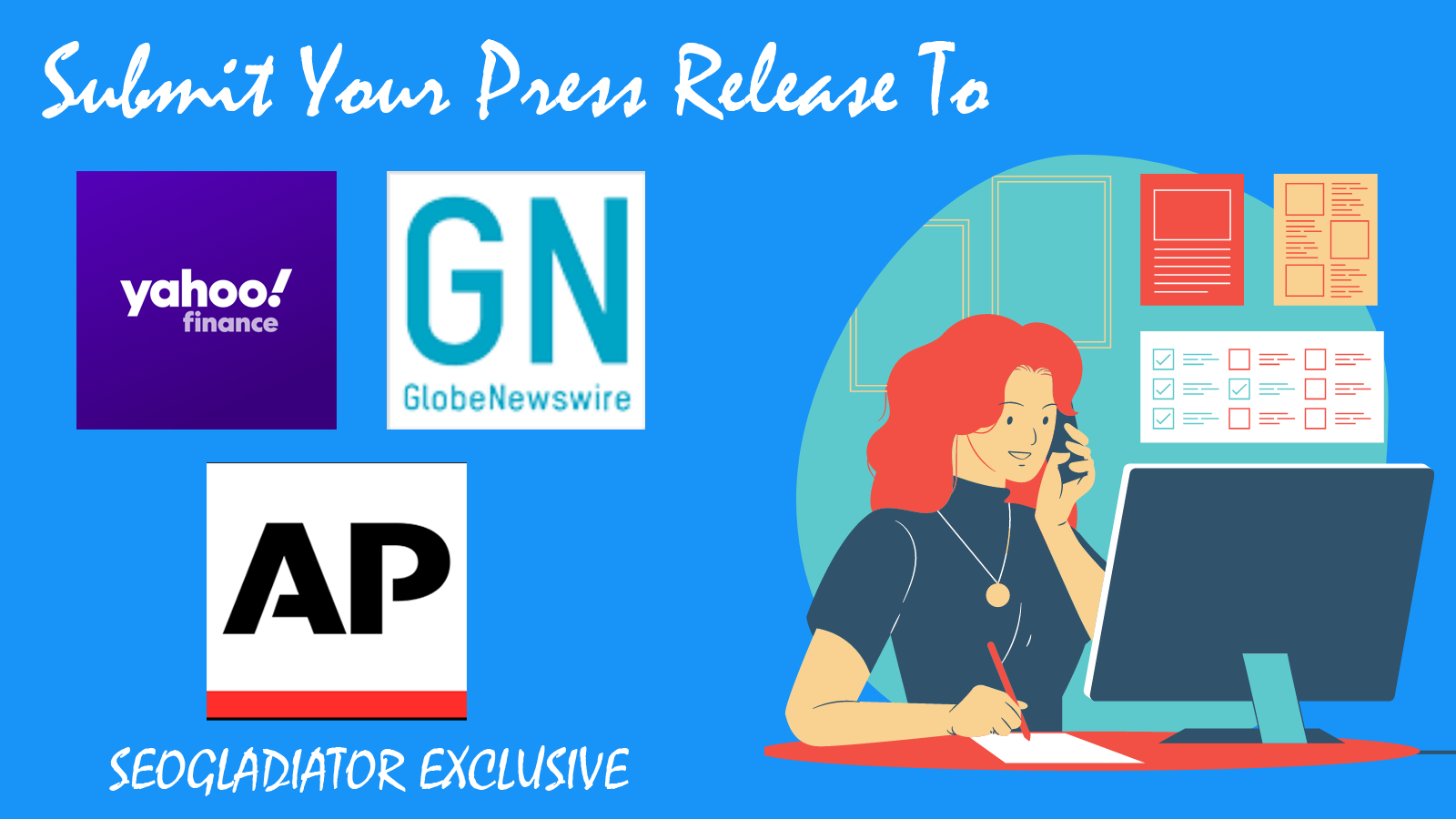 Press Release Writing and Submission to GlobeNewswire,  Yahoo Finance and APNews