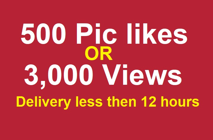 Social promotion for 500 real pic or Instant 3000 video or story