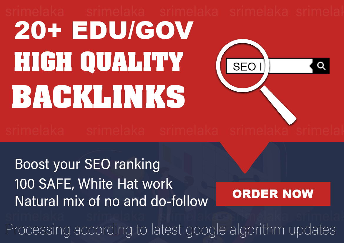 Build 20 GOV/EDU high quality backlinks to Improve your SEO in 2020