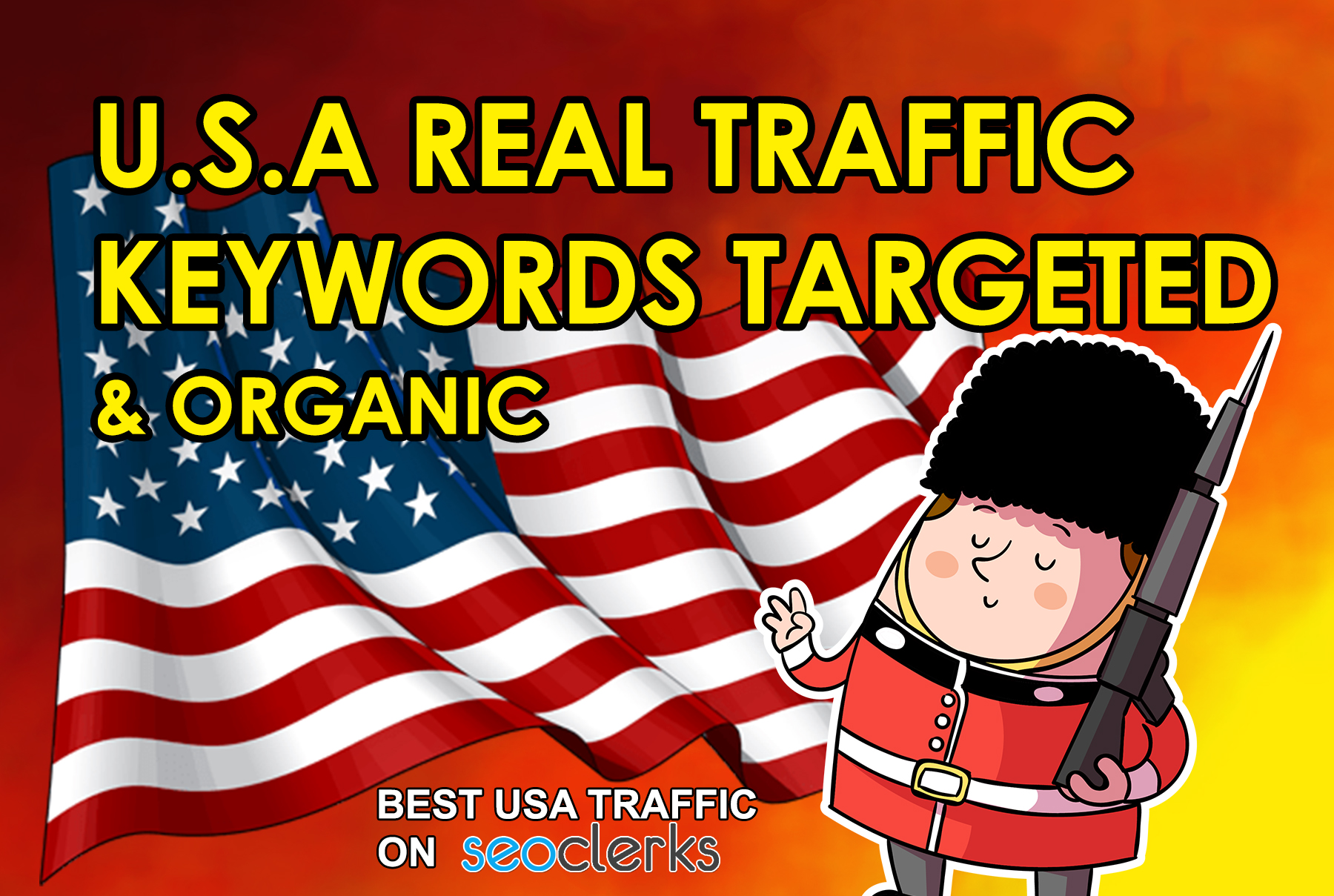 drive 100,000 keyword target real USA traffic