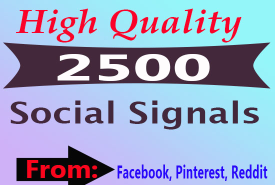 2500 Top Quality Social Signals from PR9 Sites