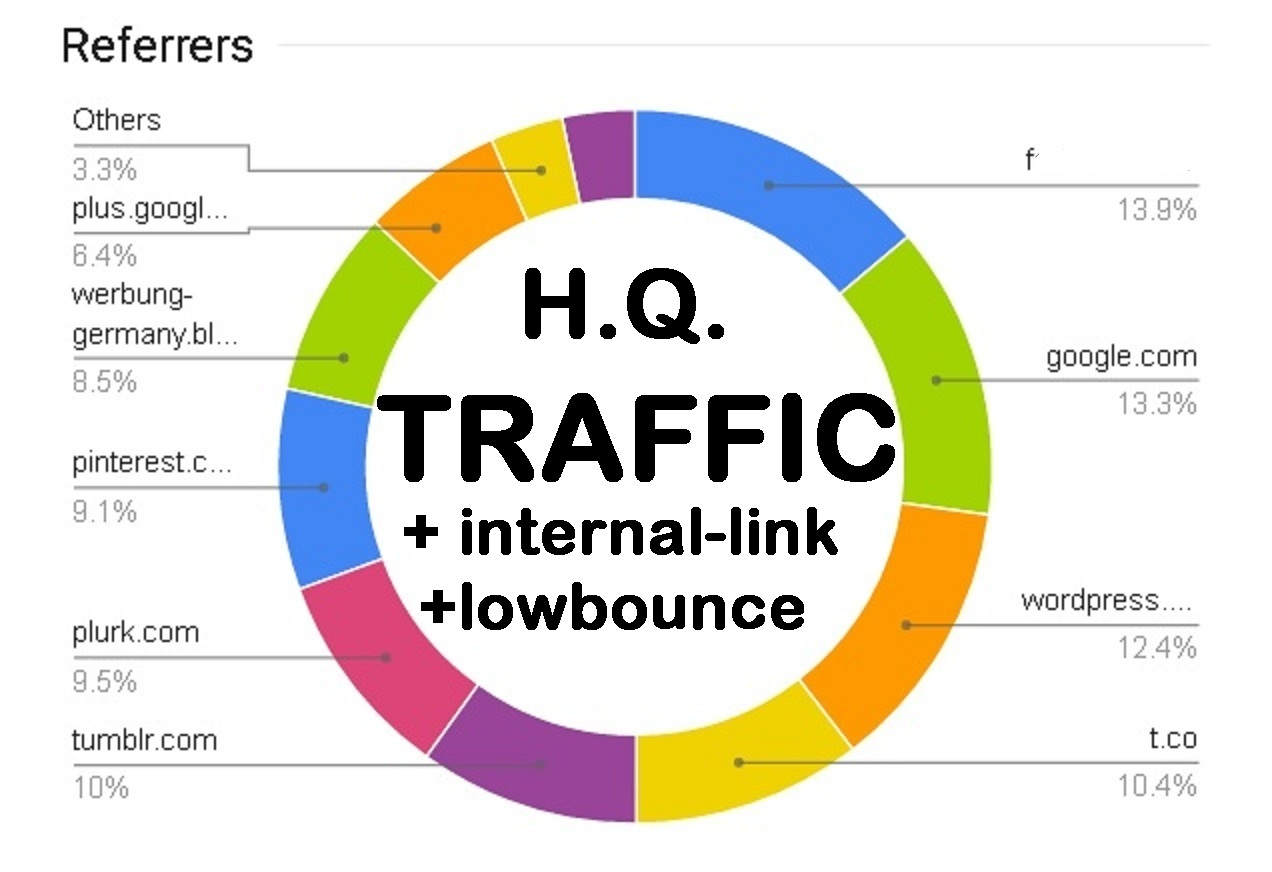 HIGH QUALITY lowbounce Traffic with internal link as you wish