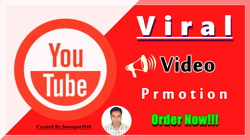 Viral Youtube Video Promotion and throw Social Media Page
