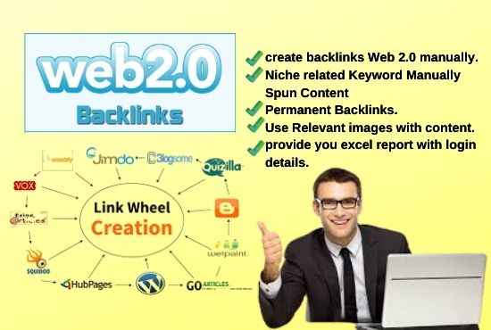 I will build 25 HQ web 2.0 backlinks manually