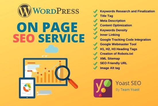 I will be your WordPress on-page SEO process manger