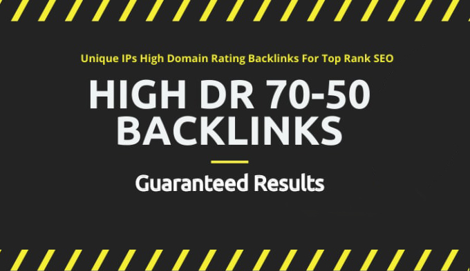 I will build 3 high quality DR 50 to 70 dofollow authority backlinks for seo