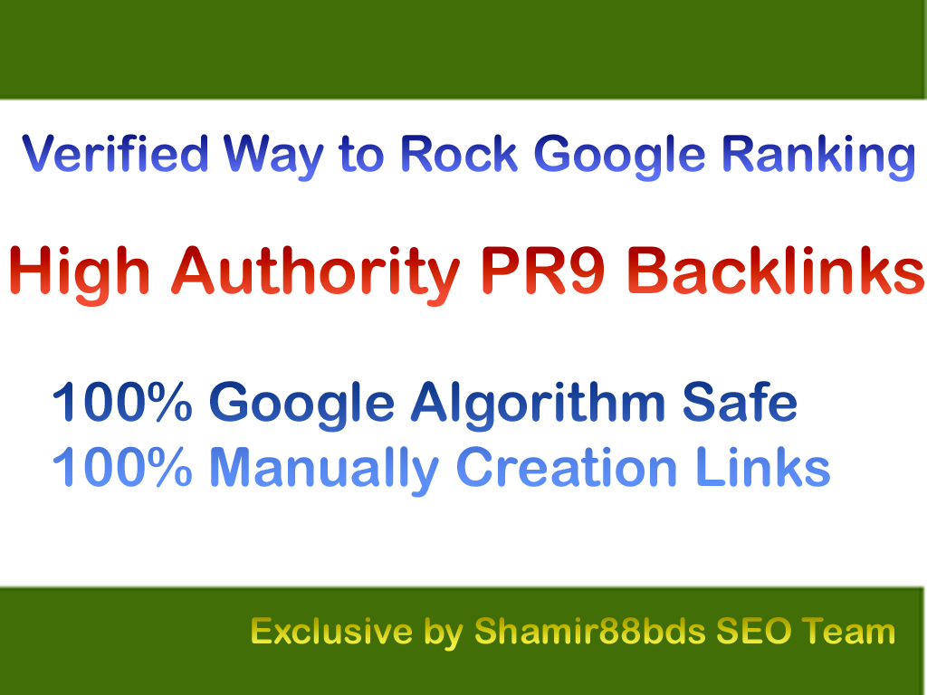 Verified 30 PR9 Authority Links to Rank 1 On Google