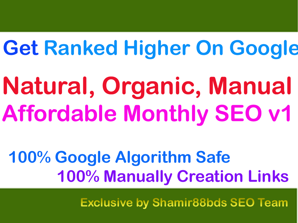 Affordable Monthly SEO v1 - Get Ranked Higher On Google