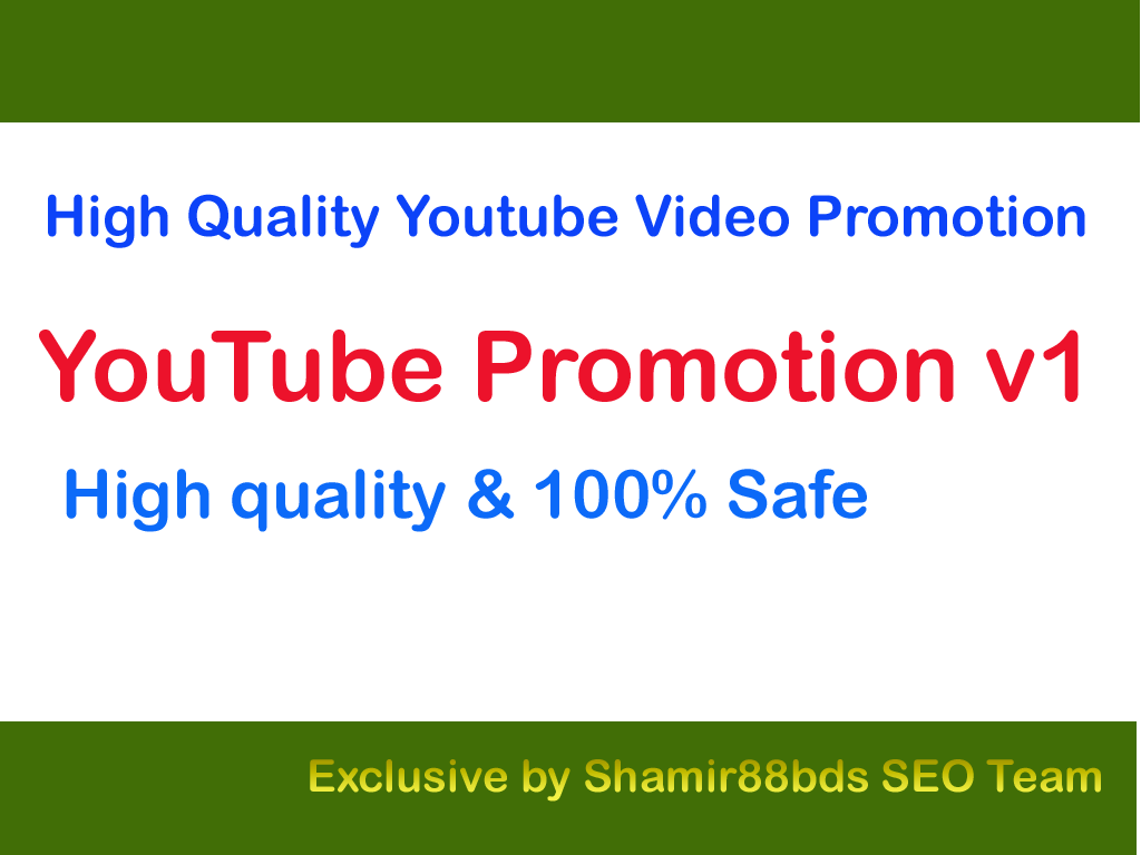YouTube Promotion v1 for your Video