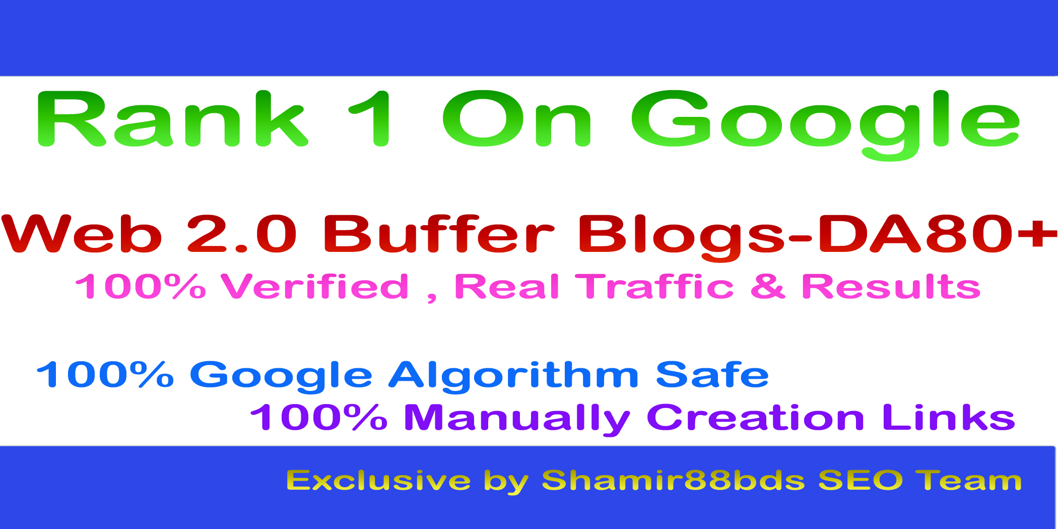 Manually 20 Web 2.0 Buffer Blogs DA80+ with Login, Unique Content, and Image