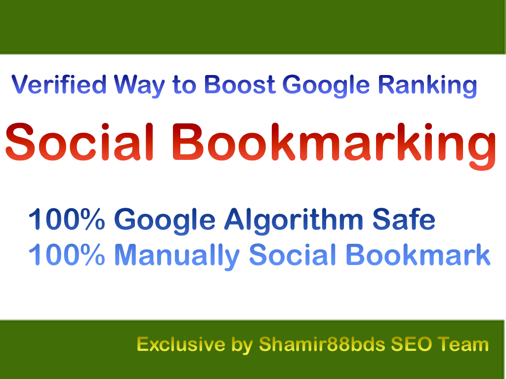 Verified 120 Authority Social Bookmarking to Boost Google Ranking