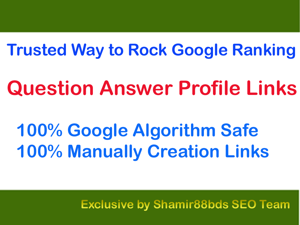 Trusted 40 Question Answer Profile Links to Page Rank 1
