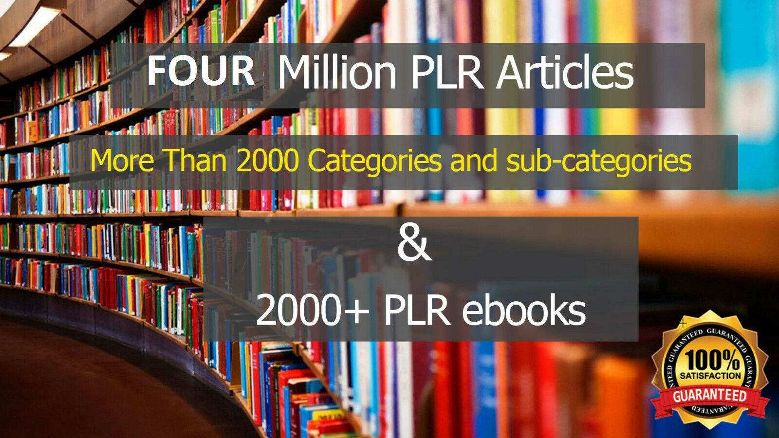 4 MILLION PLR Articles and Ebooks Monster PLR Pack Pasive Income