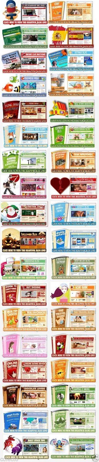 Full Blogs Niche Pack Complete Website Adsense READY Wordpress