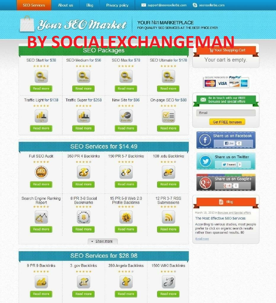 SEO Reseller Turnkey Website WITH 40 Services