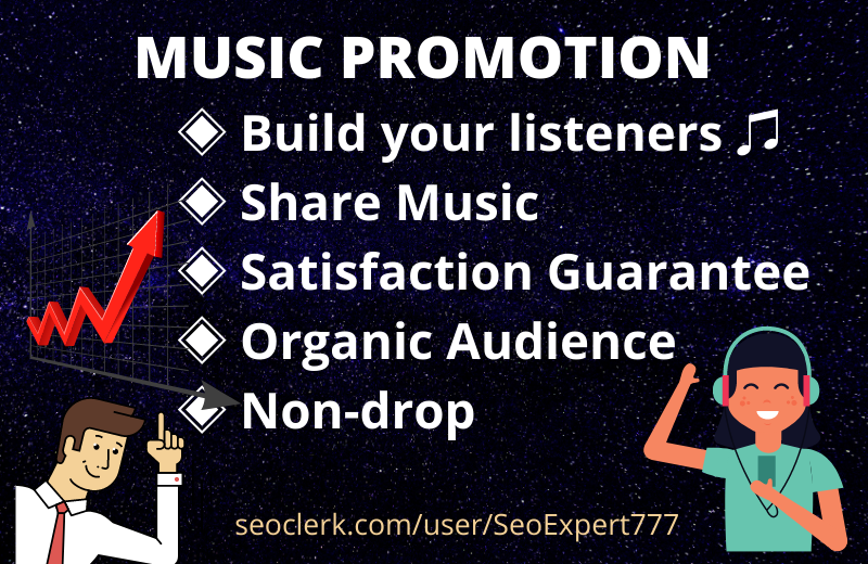 I will do Organic Music Promotion