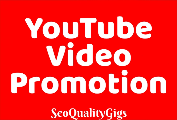 Provide Organic & High Quality You-tube VIdeo Promotion