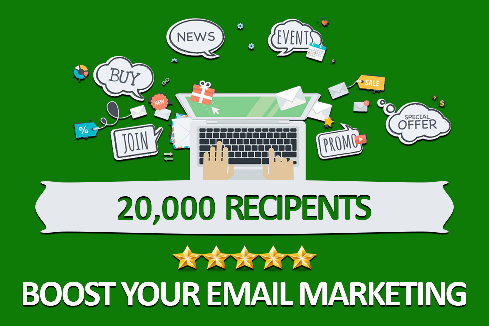 I will blast your ad to 20k recipents by email marketing