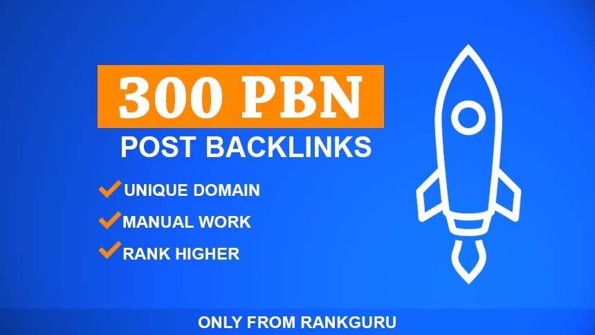 Do 300 High Quality Unique Domain PBN SEO