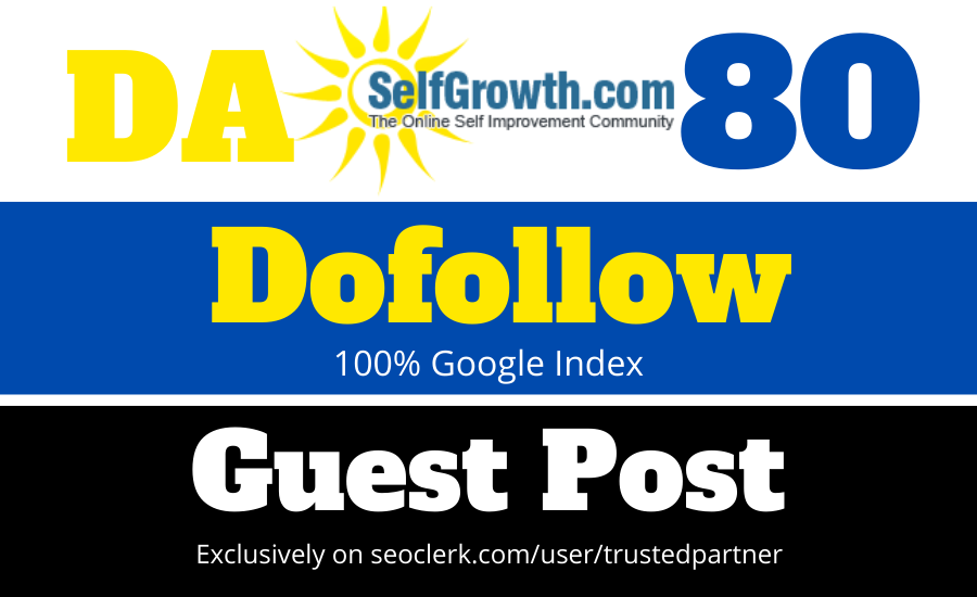 publish Article on selfgrowth with dofollow link DA80